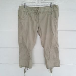 Anthropologie Hei Hei Beige Cargo Pants Capri 10
